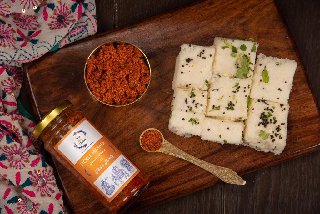 Sambaar or the pickle masala from  Gujarat.