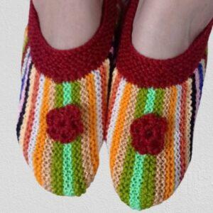 Multicolored Hand Knit Socks